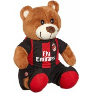 A.C. MILAN Teddy Bear Soft 24cm Sitting Red Black ORIGINAL ACM Serie A