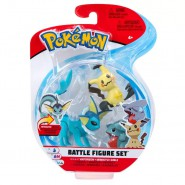 POKEMON Box 3 FIGURES Vaporeon + Mimikyu + Gible Original WCT Battle Figure Set
