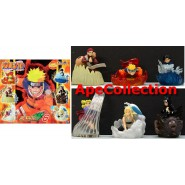RARE Set 6 FIGURES 8cm NARUTO COLLECTION PART 6 Gaara GASHAPON Bandai