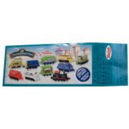 RARO Set 10 Mini Figures 3cm 3D CHUGGINGTON Train Original DISNEY Premium Prizes ZAINI