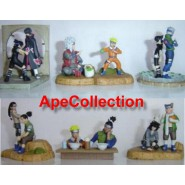 NARUTO Complete Set 6 Mini DIORAMA SCENES with Figures TRADING FIGURES Japan