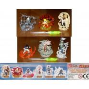 RARE Set 6 FIGURES 8cm NARUTO NINJA ACADEMY Bandai GASHAPON