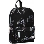 School Backpack PUSHEEN Cat BLACK PINK Multicolor Big 35x25cm ORIGINAL