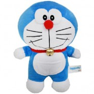 Plush DORAEMON Robot Cat 40cm Normal Smiling Closed Mouth Original TV Cartoon Movie