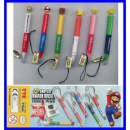 SUPER MARIO BROS Complete Set 6 TOUCH PENS TOUCH SCREEN Collection Gashapon TOMY