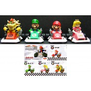 Rare SET 4 Figures with Vehicles SUPER MARIO KART DS COLLECTION Gashapon YUJIN Japanhi Peach