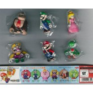 RARE Set 6 Mini Figures SUPER MARIO BLOCK STYLE Donkey Kong TOAD Yujin JAPAN Gashapon