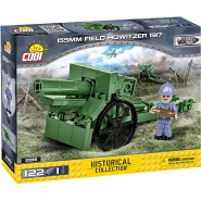 Playset Military Cannon 155mm Field Howitzer 1917 Historical Collection Great War Army COBI 2981