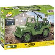 Playset Military Vehicle JEEP WILLYS MB 1/4 Ton 4x4 World War II Army COBI 2399