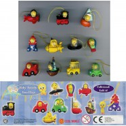 SET 8 Figure TITTI TWEETY TRAVEL WEAR Mini Winnies Style ITALY Gashapon NEW MINT