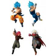 DRAGONBALL SUPER Complete Set 4 FIGURES Versus Battle Figure SERIES 15 Bandai Gashapon SSGSS Goku Vegeta
