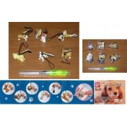 BANDAI Set 6 figures NINTENDOGS CLEANER 1 Dangler Swing NINTENDO DOGS Bandai