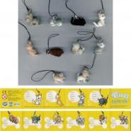 RARE Set 10 Mini Figures MINI CUCCIOLI Cat Dog PETS With DANGLER ORIGINAL Giochi Preziosi