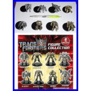 Set 8 Mini FIGURES 4cm Robot TRANSFORMERS Originali GASHAPON Tomy
