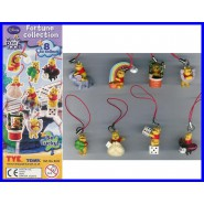 TOMY Set 8 Figure WINNIE POOH FORTUNE Edition RARE Mini Winnies DANGLERS !!