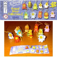 TOMY Set 11 Figures WINNIE POOH ANIMAL WEAR COLLECTION 2 Mini Winnies Peek A Pooh