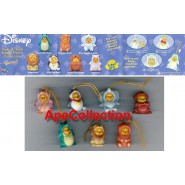 TOMY Set 7 Figures WINNIE POOH ANIMAL WEAR SERIES 2 Mini Winnies Peek A Pooh
