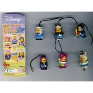 TOMY Set 7 Figures WINNIE POOH FANCY DRESS Mini Winnies Peek A Pooh TOMY