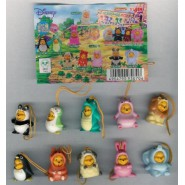 RARE Set 10 Figures WINNIE POOH WEAR DRESS PART 10 Peek A Pooh TOMY YUJIN JAPAN