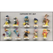 LOONEY TUNES ON A BOAT French Set 10 Cute PORCELAIN Mini Figures RARE Feves