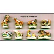 HORSE Species PARADE French Set 9 Cute PORCELAIN Mini Figures RARE Feves