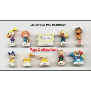 Captain Tweety LOONEY TUNES ON A BOAT French Set 10 Cute PORCELAIN Mini Figures RARE Feves
