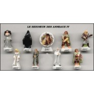 THE LORD OF THE RINGS PART 1 RARE French Set 9 Cute PORCELAIN Mini Figures Feves