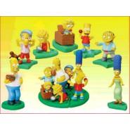 THE SIMPSONS PIC NIC Rare Set 7 MINI Figures ORIGINAL Tomy Gashapon