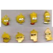 THE SIMPSONS Plastic 3D PORTRAIT PINS Lot 4 MINI Figures ORIGINAL Vergan ITALY
