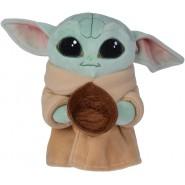 Plush 17cm BABY YODA With Bowl Star Wars Mandalorian ORIGINALE Disney