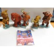 COMPLETE SET 5 FIGURES Mini Figure Brother Bear Koda Collection ORIGINAL