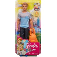 KEN Doll Traveler Travel BackPack Beach 30cm FWV15 Original Mattel Barbie