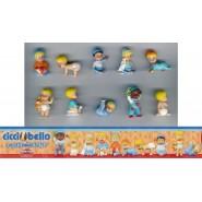 RARE Set 10 Figures CICCIOBELLO Original DOLCI PREZIOSI ITALY Trading Figures