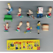 Rare COMPLETE SET 8 Mini Figures PIERINO Original Dolcerie Veneziane