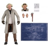 FIGURE Ultimate DOCTOR Doc BROWN 20cm With Accessories BACK TO THE FUTURE Original Official NECA