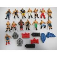 Rare COMPLETE SET 15 Mini Figures WRESTLING With 8 Erasers Wrestler Original Giochi Dolci Preziosi