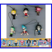 ONEPIECE Complete Set 6 FIGURES With Dangler SWING MASCOT Gashapon BANDAI