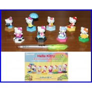SET 5 Different Figures HELLO KITTY w/ Dangler Fairy House Random Color