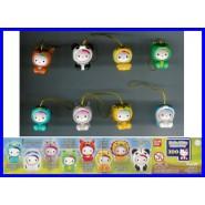 HELLO KITTY Costume Swing ZOO  Set 8 Figures With Dangler BANDAI Gashapon