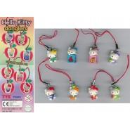 HELLO KITTY Danglers Set 8 Mini Figures 2cm BANDAI Gashapon