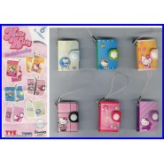 HELLO KITTY Notebooks Mini Books 4cm Set 6 With Danglers