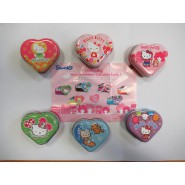 SET 6 Different Empty Containers HELLO KITTY HEART CONTAINER Serie 1