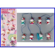 HELLO KITTY SWEET SUMMER Set 8 Mini Figures 2cm BANDAI Gashapon
