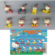 SET 8 Different Figures HELLO KITTY Figure Collection'70s with hook  Yujin Sanrio