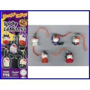 HELLO KITTY SPOOKY DANGLERS Set 5 Mini Figures TOMY Sanrio