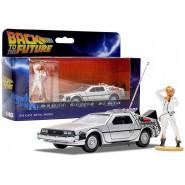 Car Model DELOREAN with Figure Doc Brown BACK TO THE FUTURE Scale 1/36 BTTF Original CORGI