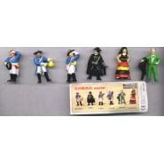 Rare COMPLETE SET 6 Mini Figures ZORRO Original MARAJA