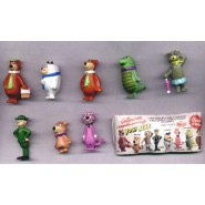Rare COMPLETE SET 8 Mini Figures YOGI BEAR Original MARAJA