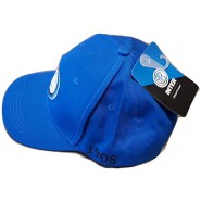 INTER F.C. INTERNAZIONALE Summer CAP Hat ADULT SIZE ADJUSTABLE All BLUE FRONTAL Original Official