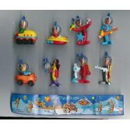 Set 8 Mini Figures PIC-NIC Serie SPACE Gashapon Original PicNic Pic Nic KINDER Style